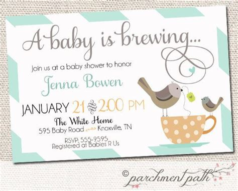 Tea Baby Shower Invites by Baby Is Brewing Shower Invitation Baby Shower Coffee