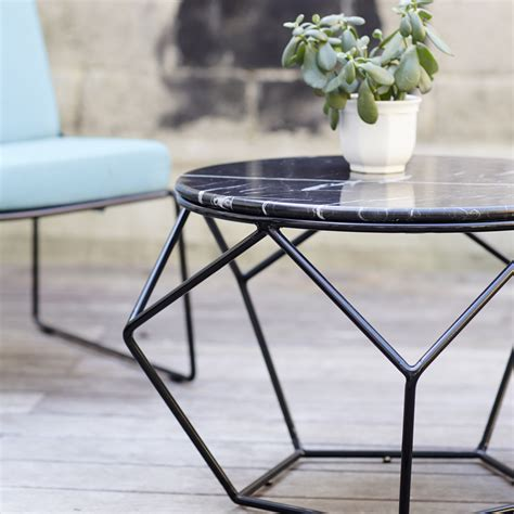 tikamoon marble and metal outdoor coffee table