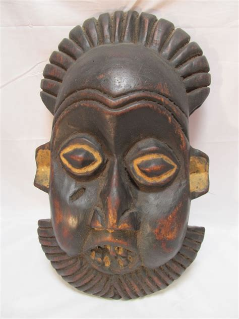 primitive decorative mask wood from