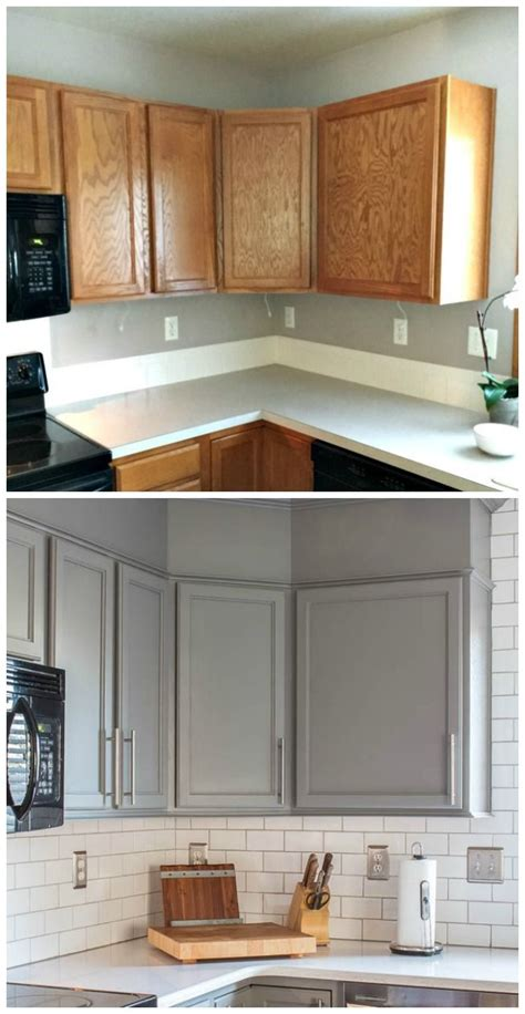 Before After Kitchen Cabinets Kitchen Before And After Reveal Builder Grade Kitchen Quartz Counter And Builder Grade
