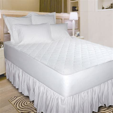 quiet comfort waterproof mattress pad newpoint quiet waterproof cotton mattress pad white