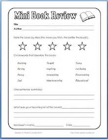 book review template elementary classroom freebies mini book review