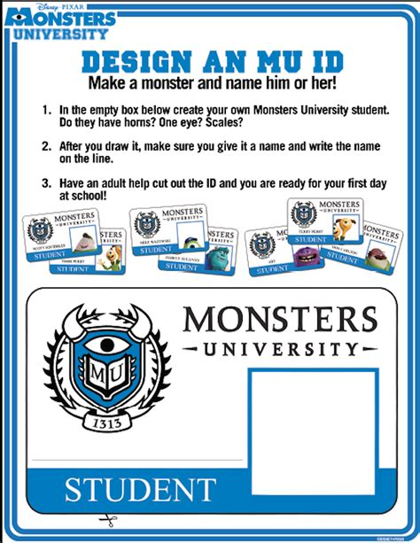Monsters Student Card Template by How To Make Your Own Monsters Id Hispana Global