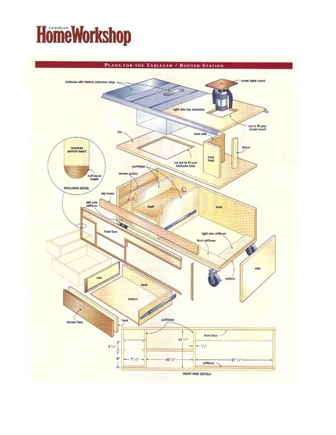 how to build a table saw workstation a tablesaw router and work station canadian home
