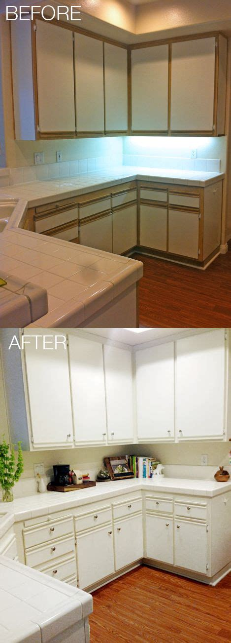 how to change the look of kitchen cabinets easy and affordable kitchen makeover update 80s laminate