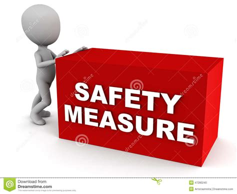 safety measures stock illustration image 47280240