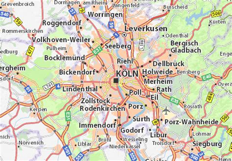 map of germany showing cologne map of cologne michelin cologne map viamichelin