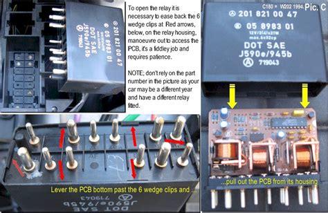 Relay Hazard W202 n10 relay soldering repair wiper indicators hazards rear window demister mercedes