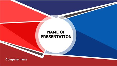 Download Free Red Blue Powerpoint Template For Presentation Eureka Templates Ppt Templates