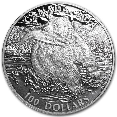 100 studio one canada equipment 2014 canada 1 oz silver 100 the grizzly 2014 rcm