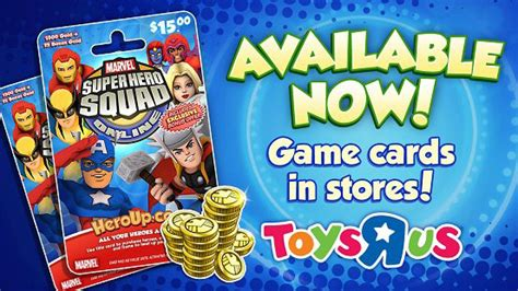 Toys R Us Gift Card Online - super hero squad online game cards available at toys r us