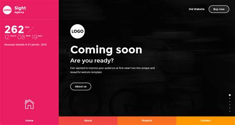 coming soon page template sight beautiful and creative website template for coming