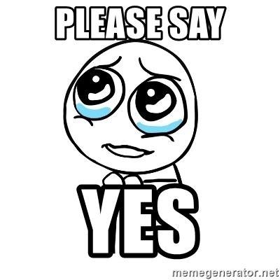 Yes Please Meme - please say yes pleaseguy meme generator