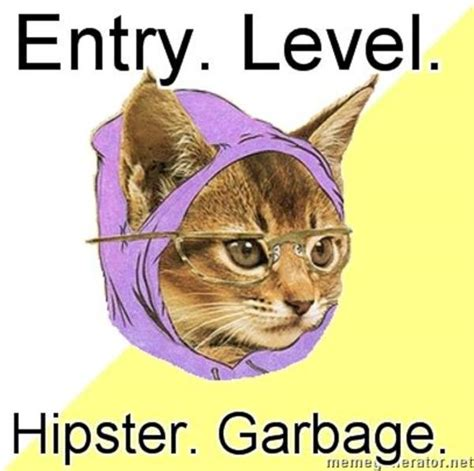 Hipster Kitty Meme - image 38976 hipster kitty know your meme