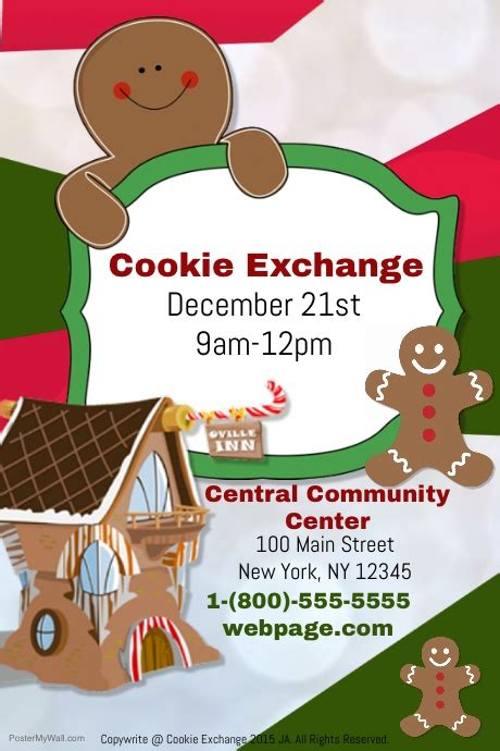 Cookie Exchange Template Postermywall Cookie Flyer Template