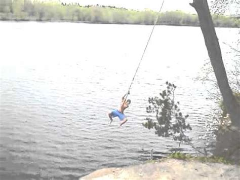 cliff rope swing eau claire wisconsin cliff jumpers rope swing into
