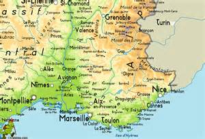 Map Of Provence France provence france map of images