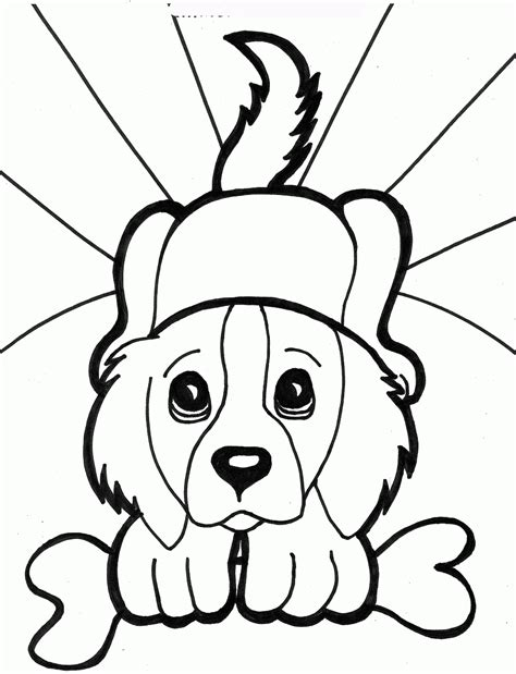 free printable coloring pages cute puppies printable dogs coloring pages to kids