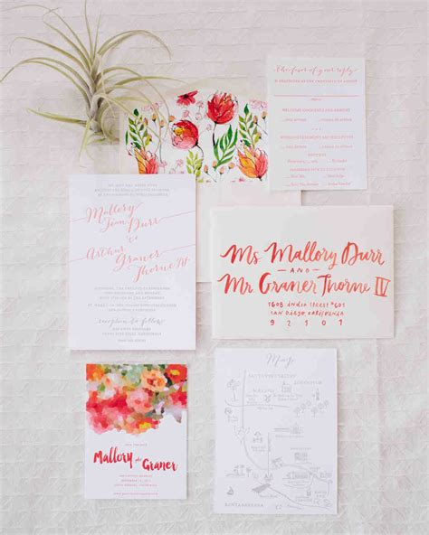 Summer Wedding Invitations by 46 Fresh Summer Wedding Invitations Martha Stewart Weddings