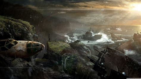 tomb raider  shipwreck ultra hd desktop background