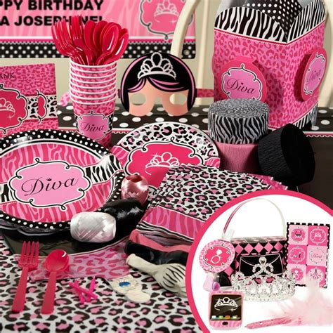 zebra print themed birthday party very cute pink cheetah print theme party supplies party