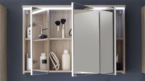 Badezimmer Spiegelschrank Sonoma Eiche by Spiegelschrank Miami In Sonoma Eiche Mit Led F 252 R Badezimmer