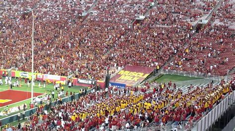 student section usc student section quot arm waving quot 3rd quarter hawaii vs