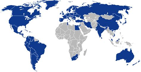 globe coverage maps geographic coverage istqb 174 international software