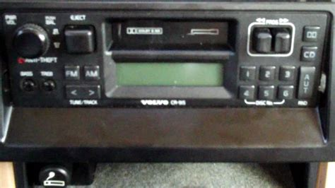 removing radio from a volvo 940