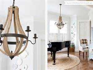 Cottage Chandeliers Wood Wine Barrel Chandelier From Shades Of Light The