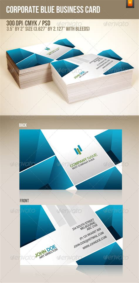 2 2 35 business card template photoshop photoshop corporate blue template 187 maydesk