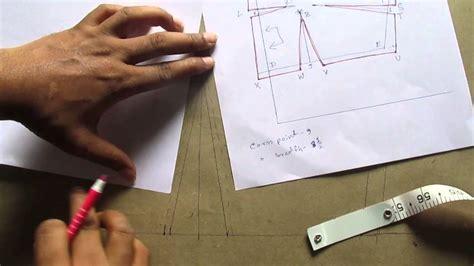 youtube pattern cutting plain blouse drafting pattern cutting stitching part 2 of