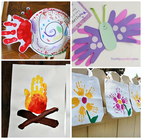crafts with handprints summer handprint crafts for to make crafty morning