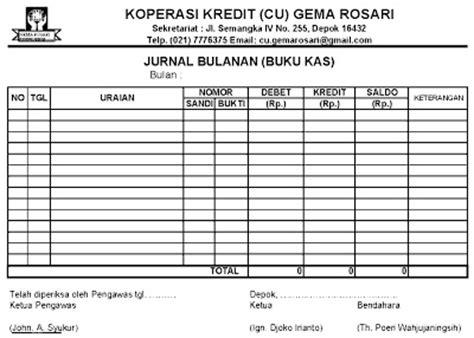 format buku kas koperasi sekolah gema rosari menghitung shu koperasi kredit