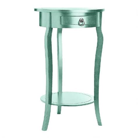 blue accent table blue curved leg round accent table christmas tree shops