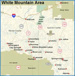 mountains in arizona map white mountains az real estate for sale area info from