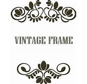 Black And Calligraphic Vintage Frame Border Elements Or