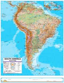 physical map of south america for