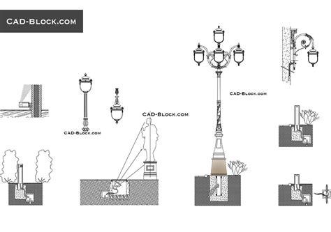 street lights cad blocks free download urban lighting design cad blocks download
