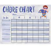 Chore Chart Printables For Your Superhero Kids  Personal