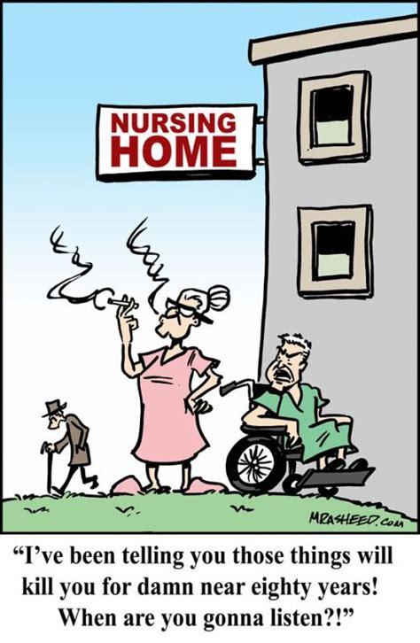 nursing home cartoon funny gag cartoon  nursing home
