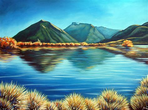 acrylic paint new zealand glenorchy new zealand painting by ira mitchell kirk