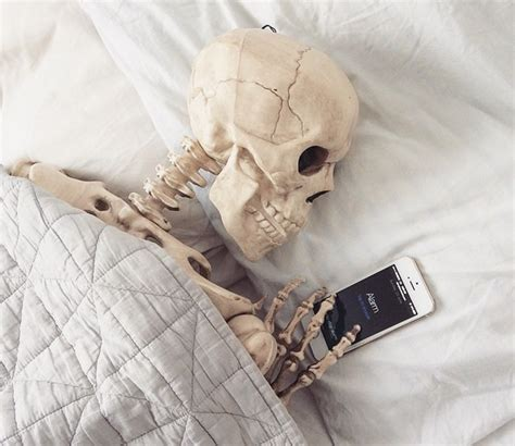 skeleton in bed this skeleton s instagram account is deadly funny