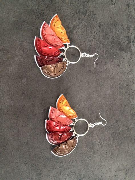 boucles d oreille capsule nespresso marion et cmz