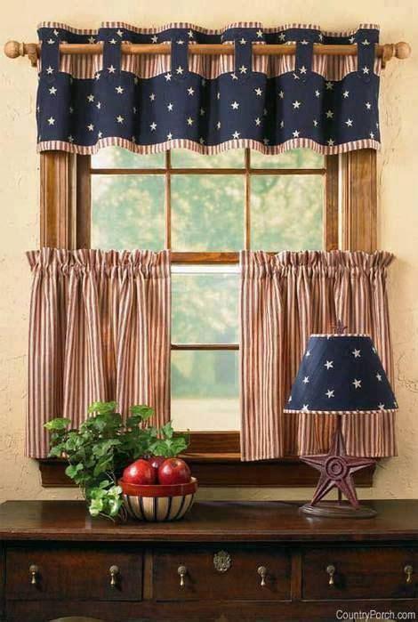 Americana Kitchen Curtains Cortina Modelo Quot Meia Cortina Quot Penso Em Colocar Uma Igual Nas Janelas Da Cozinha De