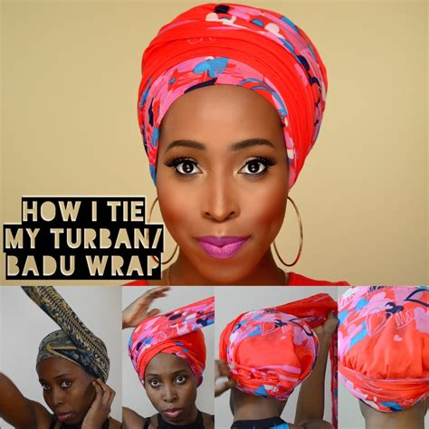 new styles guide to tying nigerian traditional head tie diy how i tie turban badu head wrap tutorial for bad