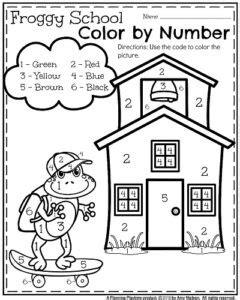 coloring pages beginning school year back to school kindergarten worksheets planning playtime