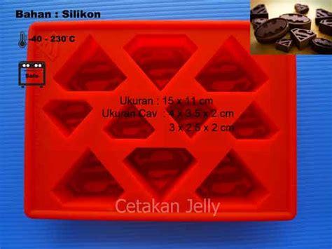 cetakan silikon coklat puding superman cetakan jelly cetakan jelly
