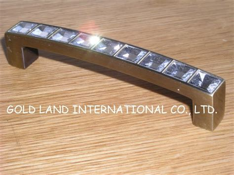 Bedroom Furniture Glass Handles 96mm Bronze Coloured Free Shipping K9 Glass