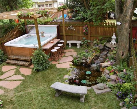tub patio ideas 67 cool backyard pond design ideas digsdigs